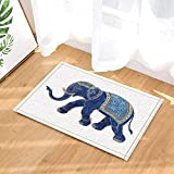 caichaxin Sfondo Bianco Borsa in Stoffa Rossa Elefante Blu Tailandese Tappeto da Bagno Morbido Ecologico e Resistente all'Usura