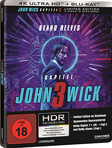 John Wick: Kapitel 3 - Limited 4K UHD Edition im Steelbook (+ Blu-ray 2D)