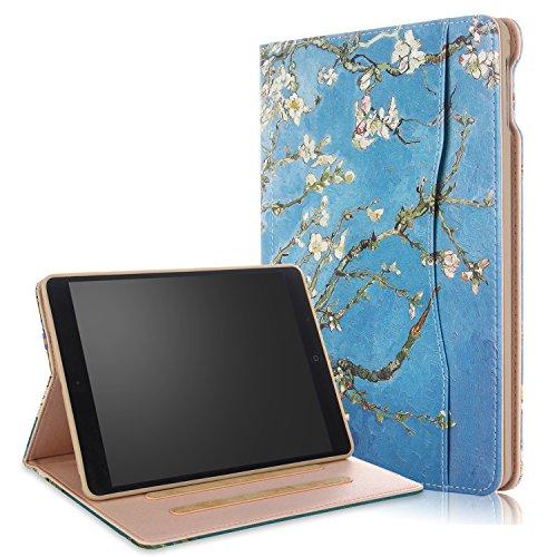 ionale TPU Soft Case mit Hand-Halter Auto Schlaf/Wach für Apple iPad 9.7 2017/2018/Air/Air2, Aprikosenblüte ()