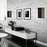 TONGSS Deep Embossed 3D Brick Wall Paper Moderne Vintage Ziegelstein Muster Papier Tapetenbahn Für Wohnzimmer Wandverkleidung Dekor, 5,3 M2