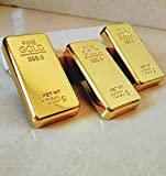 #8: 24K Gold Finish Metal Bar Paper Weight for Office Table & Corporate Gift.(ONE Piece). Fast Shipping Through (Amazon FBA).