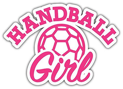 Handball Girl Slogan Bumper Sticker Vinyl Art Decal for Car Truck Van Wall Window (24 X 20 cm)
