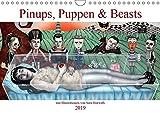 Pin-ups, Puppen & kleine Monster (Wandkalender 2019 DIN A4 quer): Burlesque Pinup Zeichnungen mit flottem Strich - Pinups, Puppen & Beasts (Monatskalender, 14 Seiten ) (CALVENDO Menschen)
