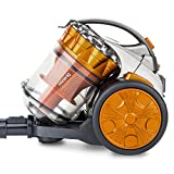 H.Koenig STC60 Aspirateur Multi cyclonique sans Sac Compact+ -Triple A-léger-maniable-Puissant, Orange