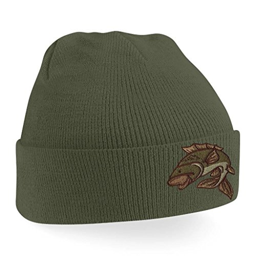 ebbbb035d Beanie Hats for Men Carp Fishing Beanies Embroidered Animal Knitted Wooly  Hat One Size Fits All Beanie Fishermans Hat from BANG TIDY CLOTHING