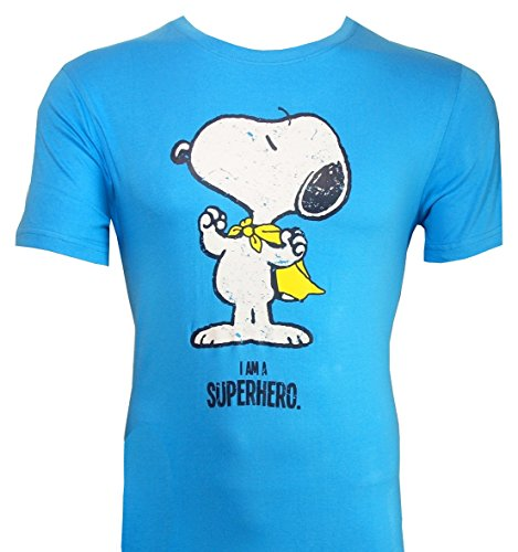 T-Shirt Die Peanuts: Snoopy Superheld / I AM A SUPERHERO (M)