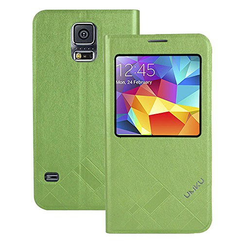 Heartly Premium Luxury Soft Touch PU Leather Flip Stand Back Case Cover For Samsung Galaxy S5 i9600 - Green  available at amazon for Rs.201