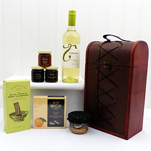 Duchess Fine Food Chest Gift Hamper with Tonada White Wine - Gift Ideas For Mother's Day, Birthday, Christmas, Anniversary and Corporate Gifts