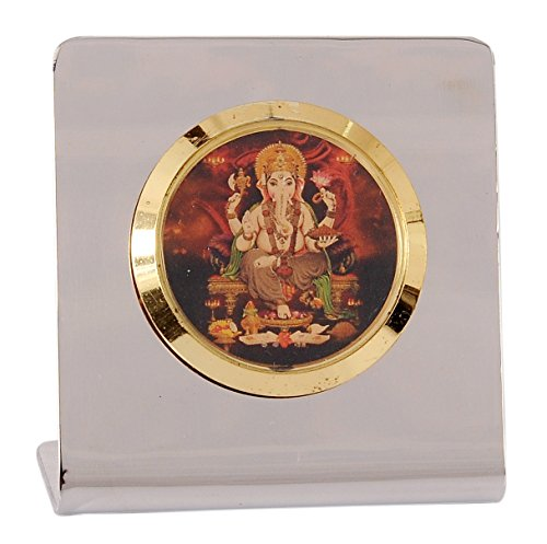 YNA Brass & Stainless Steel Home Office Decor Item in Gold & Silver Plating Ganesh Ji Showpiece Figurine For Diwali Gift, Small Temple, Spiritual Décor, Festive Décor, Divine Lord Ganesha Idol, Bhagwanji Gifts, Spiritual Gifts, Gift Set, Cheap Gifts, Tabletop, Car, Table Clock, Corporate Gift  available at amazon for Rs.450