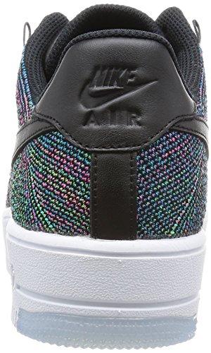 Nike Af1 Ultra Flyknit Low, Chaussures de Sport Homme, 45.5 EU Noir (noir (noir / lagon bleu - vert électrique - rose explosion))