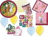 113-tlg. Partyset Bibi und Tina - für 8 Kinder - Partygeschirr und Zubehör