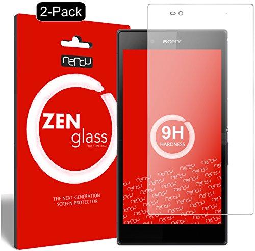 nandu I ZenGlass [2 Stück] Flexible Glas-Folie für Sony Xperia Z Ultra Panzerfolie I Bildschirm-Schutzfolie 9H