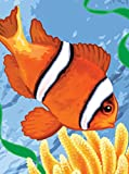 Royal & Langnickel 11 x 15 inch Clown Fish Pre-Printed Paint by Number Painting Set
