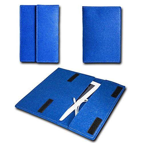 Filz Book Style ACER Aspire Switch - 10,1 Zoll Filz Tablet Tasche Hülle Etui Einschubtasche passgenau für ACER Aspire Switch - 10,1 Zoll- Farbe dunkelblau