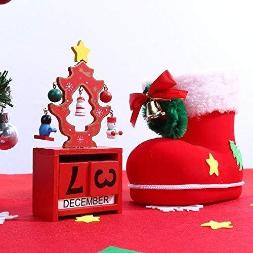 Yannay Innovativer Deko-Anhänger Home Decor Hängende Ornamente - Weihnachten 2017 Kalender Weihnachtsschmuck für Zuhause Ornament Kinder weiß - 1 x Weihnachten Holz Kalender