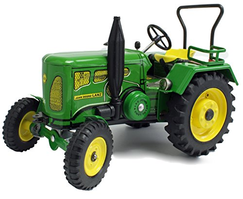 Traktor / John Deere Lanz / Mit Federwerk zum Aufziehen mit Schlüßel / Voll funktionsfähig / Lenkung / Schaltung / Handbremse /