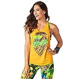 Zumba Fitness Damen Rock N Rave Loose Tank Fitness Tanktops Frauentops, Tangerine Tango, S