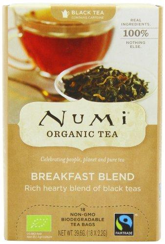 Numi Organic Breakfast Blend - Morning Rise 18 Beutel, 2er Pack (2 x 40 g) - Bio