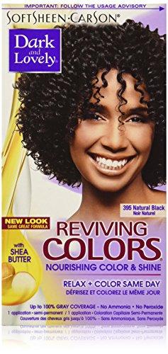 Dark and Lovely Coloration capillaire Reviving - Enrichie en huiles hydratantes - Couleur 395 - Noir naturel