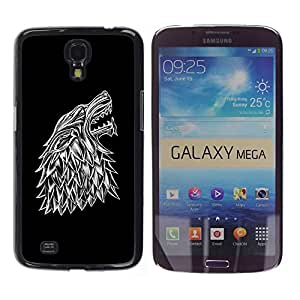 Omega Covers - Snap on Hard Back Case Cover Shell FOR SAMSUNG GALAXY MEGA 6.3 - Wolf Crest