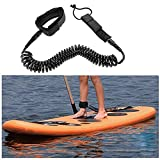 lzndeal 10ft Wassersport Wellenreiten Leashes Surfbrett Knöchel Leine Seil aufgerollt Stand up Paddle Board Surf Cord Schnur