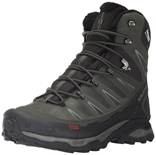 Salomon Damen X Ultra Winter Cs Wp Trekking-& Wanderstiefel, Schwarz (Black/Rosin/Castor Gray), 42 EU