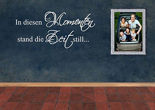 """Wandtattoo -Wandaufkleber -\""""In diesen Momenten stand die Zeit still.\"""" - Dekoration - Fotografien - verschiedene Farben und Größen (980 mm x 450 mm, Schwarz)"""