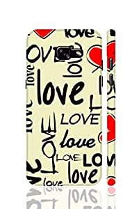 SRS Love In Letters 3D Back Cover for Samsung Galaxy A3 2017