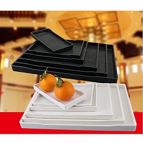 P Prettyia Hotel Schale, Kaffee Tee Tasse Tablett Dessert Aufbewahrung Salat Kuchen Teller Snacks Schale für Hotel - Silber, G 29x21cm