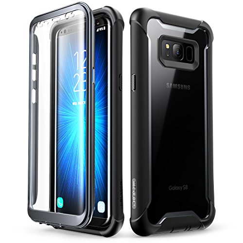 i-Blason Samsung Galaxy S8 Case, [Ares] Full-Body Rugged Clear Bumper Case Cover with Built-in Screen Protector for Samsung Galaxy S8 2017 Release (Black)