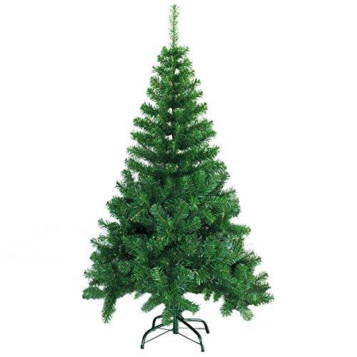 SAILUN 150cm künstlicher Weihnachtsbaum Christbaum Tannenbaum mit Metallständer, Schneller Montage und Faltung (150cm, Grün PVC)