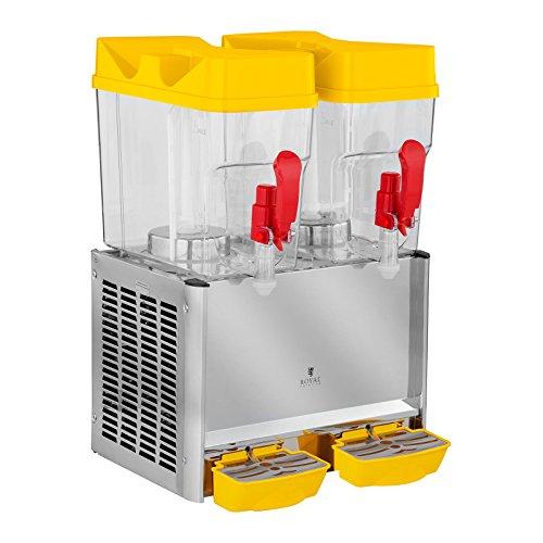Royal Catering Dispensador De Bebidas Frías RCSD-36C (2 x 18 L, 280 W, 7-12 °C, Sin BPA, Ciclo de trabajo: 8-12h)