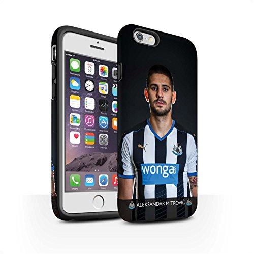 Officiel Newcastle United FC Coque / Matte Robuste Antichoc Etui pour Apple iPhone 6 / Pack 25pcs Design / NUFC Joueur Football 15/16 Collection Mitrovic