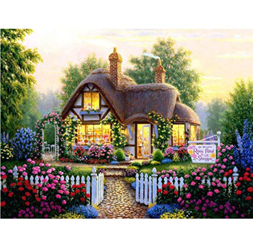 WACYDSD Puzzle 1000 Teile Romantisches Gartenhaus Aus Holz Classic Puzzle DIY Kit Holzspielzeug...