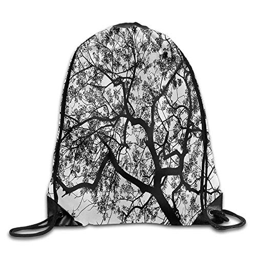 Sporttasche mit Kordelzug, Sportrucksack, Reiserucksack, Apartment Forest Tree Branches Modern Spooky Horror Movie Themed Bags Baseball Backpack (Schmuck Strand Themed)