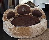 Knuffelwuff Luena - Le matelas pour chien patte S-M 80cm - brun - super moelleux