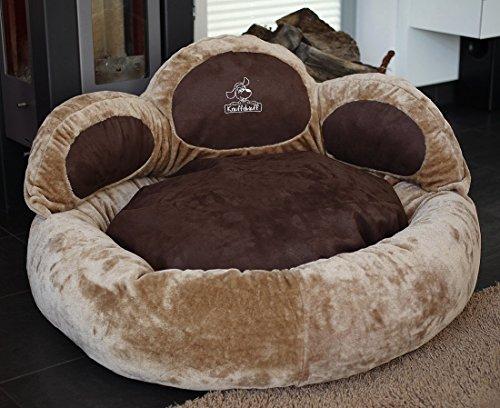 Knuffelwuff Paw Bed Dog Bed Luena Extra Soft XXL 110cm Brown