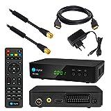 Kabel Receiver DVB-C SET: HB DIGITAL HD 250C DVB-C Receiver für Kabelfernsehen + 7,5m HDTV Antennenkabel vergoldet mit Mantelstromfilter schwarz + HDMI Kabel (Full HD Ready, HDTV, HDMI, SCART, USB 2.0, SPDIF Koaxial Ausgang, 230V/12V Camping Receiver)