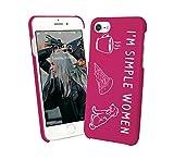 Simple Women Coffee Pizza Dog Love Quote iPhone 6 7 8 X Galaxy Note 8 Huawei Custodia Protettiva Hard Plastic Cover Case