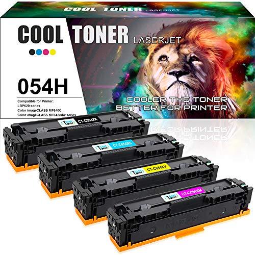 Cool Toner 4 Pack Compatible pour Canon Toner 054H 054 Toner Cartridges pour Canon i-SENSYS LBP621cw...