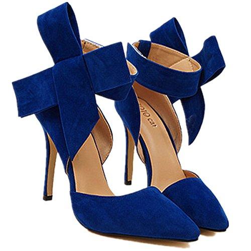 ANBOVER, Scarpe col tacco donna Blue