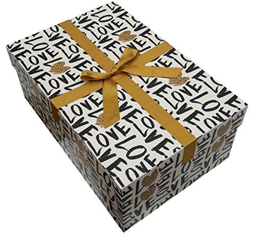 Die extragroße Brautkleidbox Liebesgeflüster Brautkleid Box 75x50x30 cm - 24h Direktversand aus...