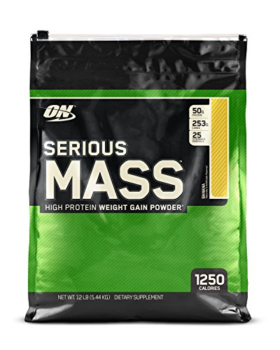Optimum Nutrition (ON) Serious Mass - 12 lbs (Banana)  available at amazon for Rs.4891