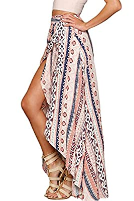 Boldgal Women's Swimwear Floral Maxi Wrapped Skirt Sarong (Multi-Coloured)