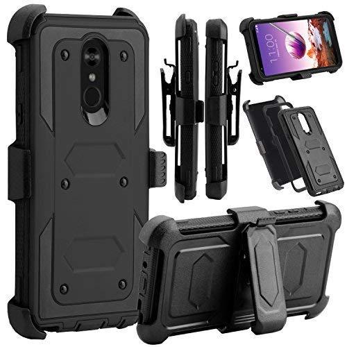 Stylus 4Fall, venoro Robuste Stoßfest Full Body Schutz Rugged Case Cover mit drehbarem Gürtelclip und ausklappbarem Ständer für LG F Stylo/LG Stylo 4+/LG Stylo 4Plus, schwarz ()