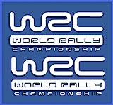 Ecoshirt 2Y-7LN5-UR9K Autocollants WRC Rally Dr1009 Vinyle adhésifs Decal Aufkleber, Adhésifs pour Voiture Voiture, Blanc