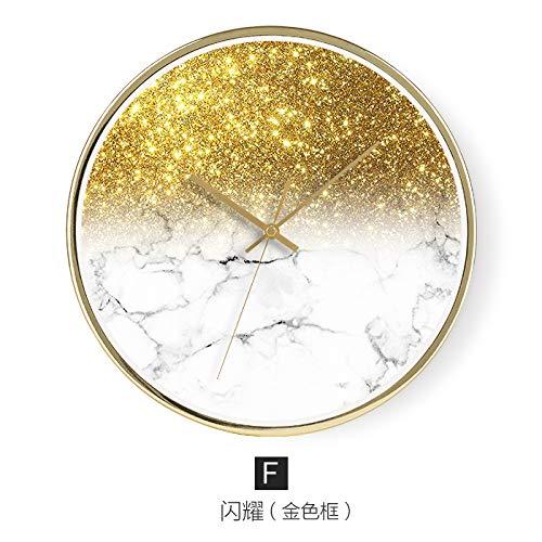 SJQ Persönlichkeit, Kreativität, Mode, Moderne einfache Uhrenkunst, nordische Wanduhr, 12 Zoll, F - Glanz