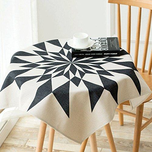 WTL nappe de table Nappe en coton et lin Nappe ronde Nappe carrée Tissu à café ( taille : 85*85cm )