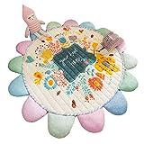LCDY Baumwoll-Kindermatten Raumklettermatten Faltbare Babyspielmatten Yogamatten Cartoon-Muster Geschenke für Kinder,White,145CM