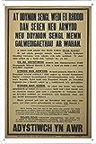 World War I One Tin Sign Metal Poster (reproduction) of At ddynion sengl wedi eu rhoddi dan seren neu arwydd neu ddynion sengl mewn galwedigaethau ar wahan. [...] Adystiwch yn awr